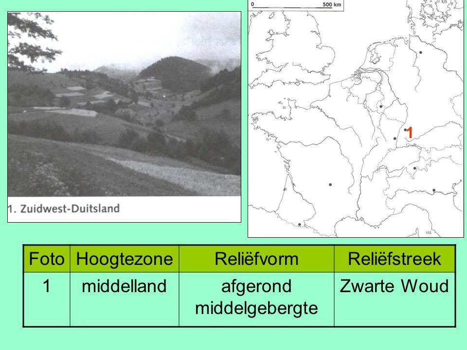 FotoHoogtezoneReliëfvormReliëfstreek 1middellandafgerond middelgebergte Zwarte Woud 1