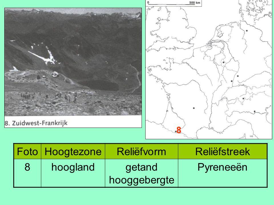 FotoHoogtezoneReliëfvormReliëfstreek 8hooglandgetand hooggebergte Pyreneeën 8