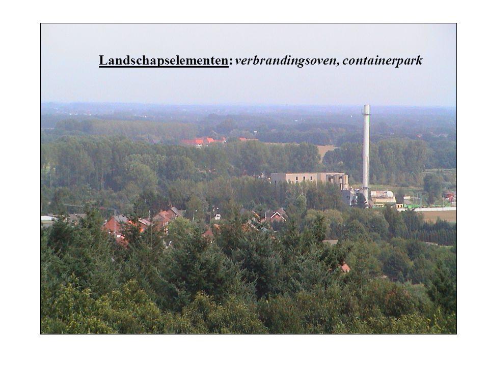 Landschapselementen: verbrandingsoven, containerpark