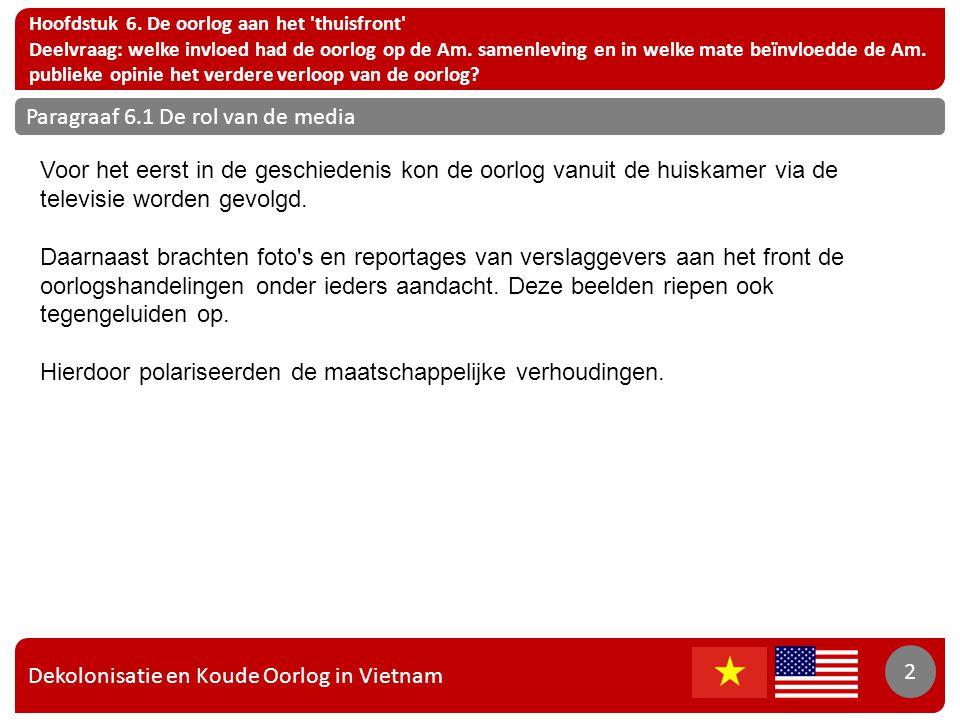 Dekolonisatie en Koude Oorlog in Vietnam 2 Hoofdstuk 6.