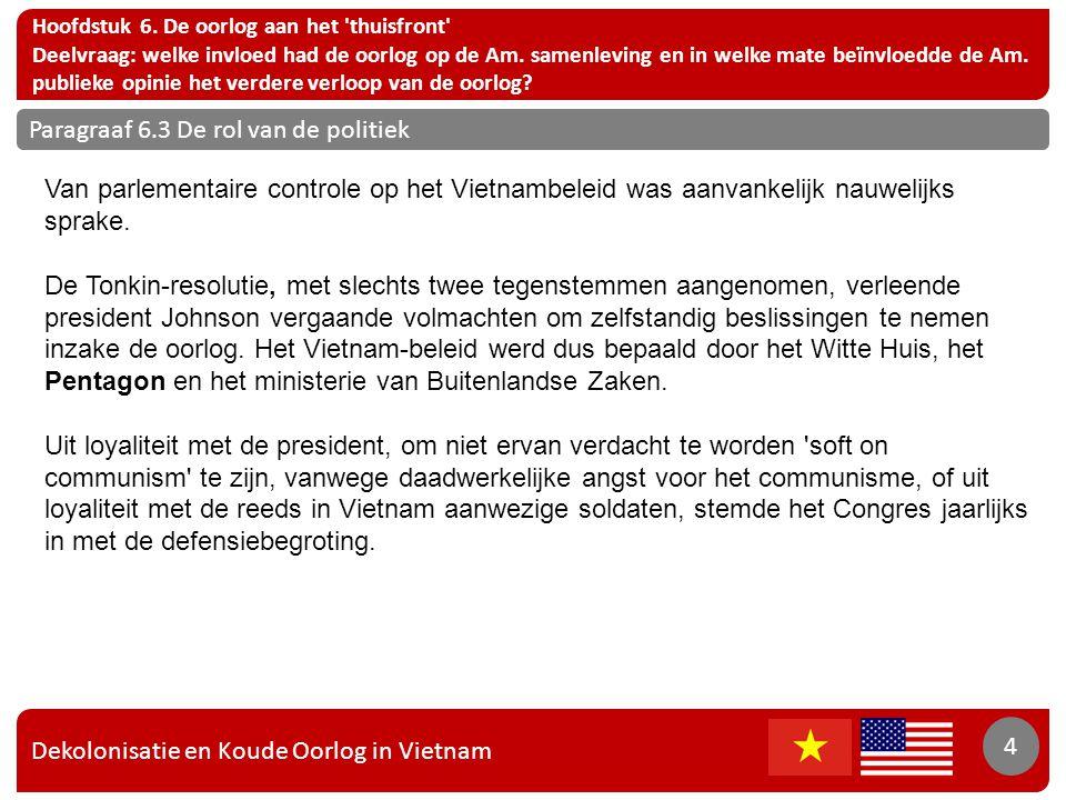 Dekolonisatie en Koude Oorlog in Vietnam 5 Hoofdstuk 6.