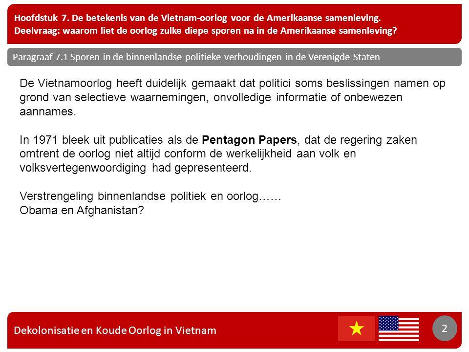 Dekolonisatie en Koude Oorlog in Vietnam 2 Hoofdstuk 7.