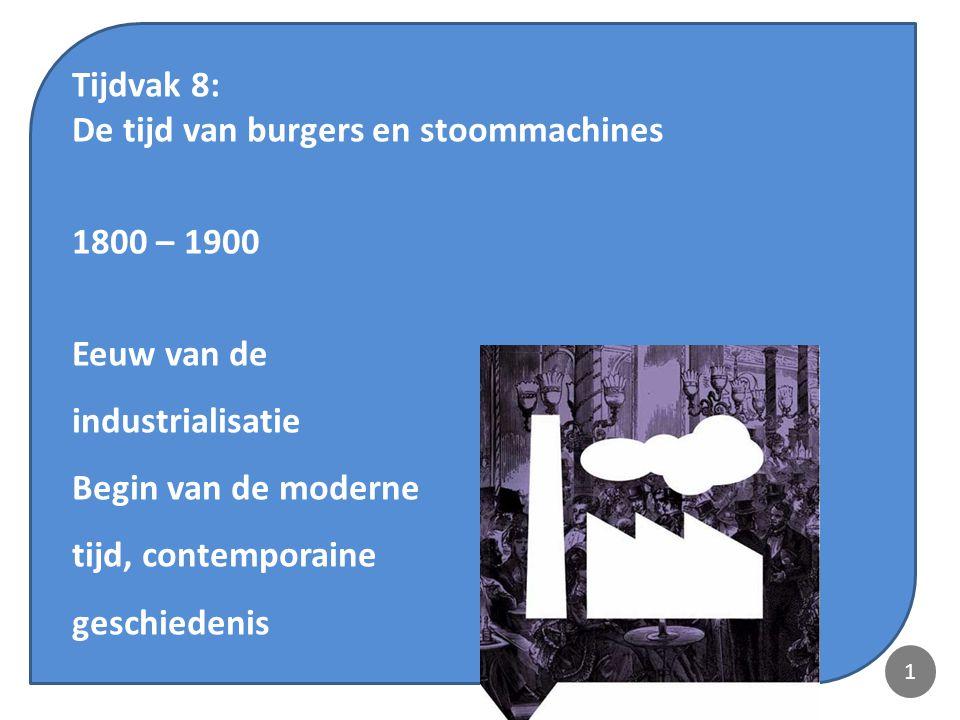 Tijdvak 8: De tijd van burgers en stoommachines 1800 – 1900 2 Inleiding 2 31.