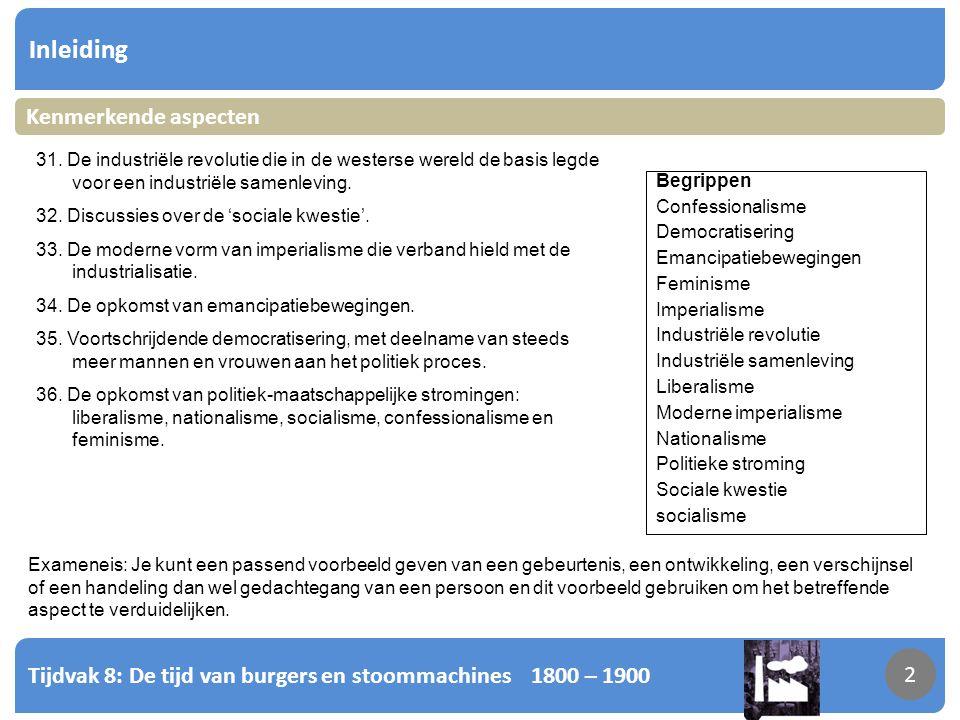 Tijdvak 8: De tijd van burgers en stoommachines 1800 – 1900 3 Inleiding 3 Wat is politiek.