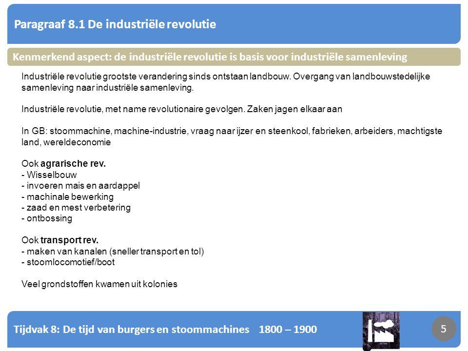Tijdvak 8: De tijd van burgers en stoommachines 1800 – 1900 6 Paragraaf 8.2 Politiek-maatschappelijke stromingen 6 Kenmerkend aspect: de opkomst van pol-ma.