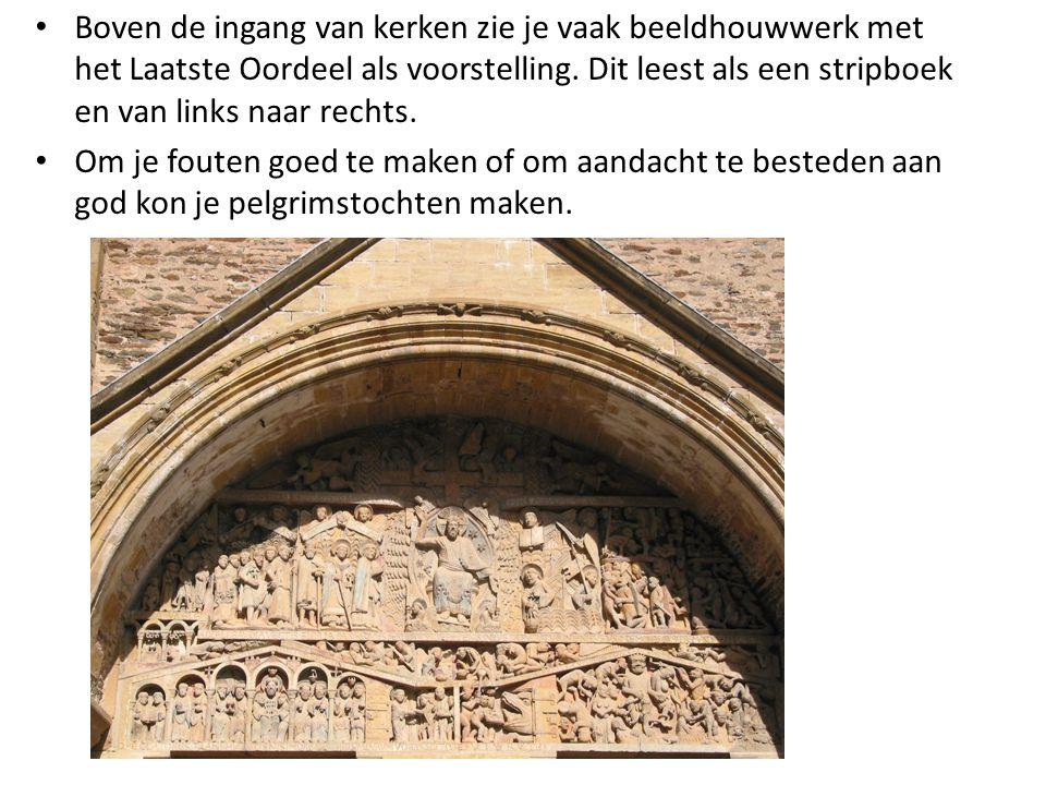 Boven de ingang van kerken zie je vaak beeldhouwwerk met het Laatste Oordeel als voorstelling.
