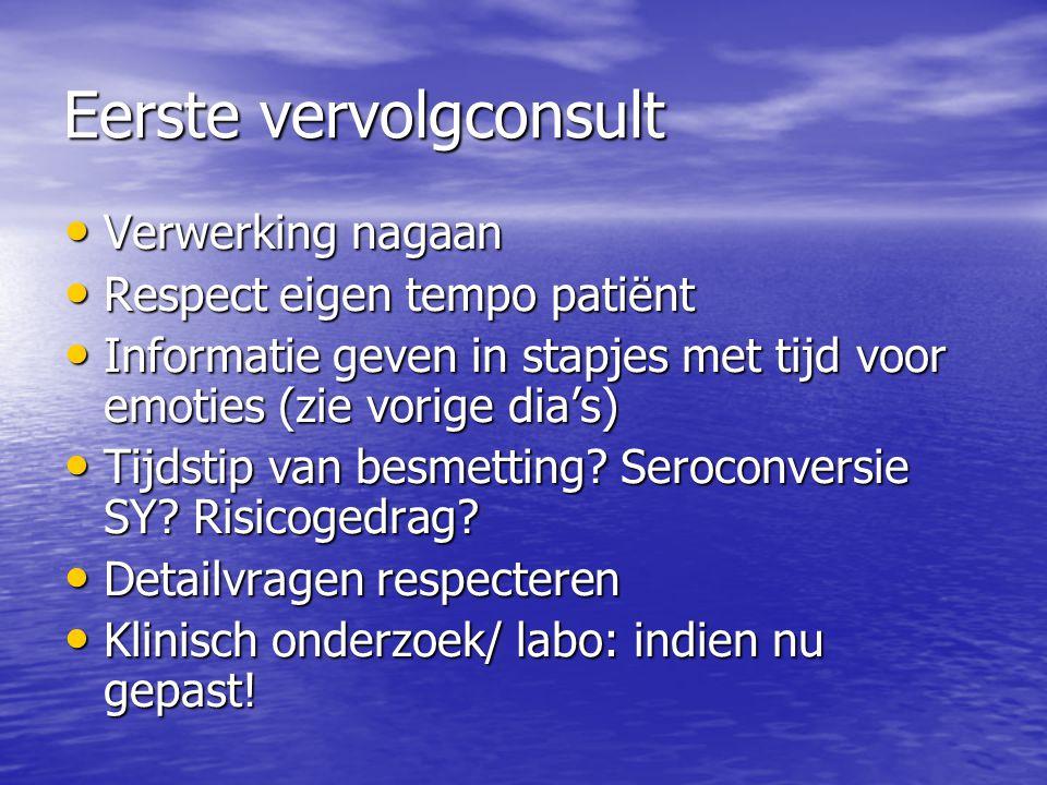 Hiv basis check-up (1): anamnese Reeds ziektes gehad.