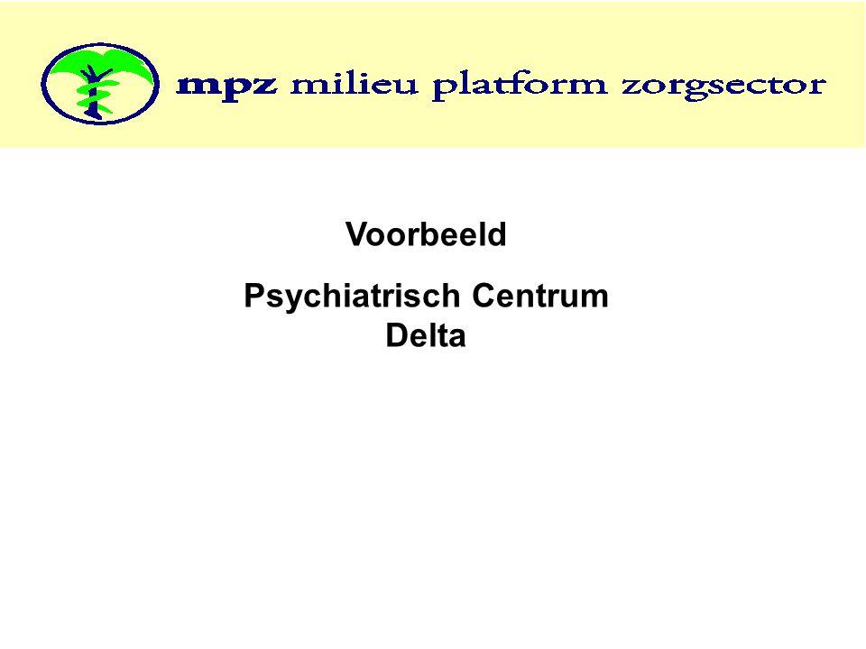 Voorbeeld Psychiatrisch Centrum Delta