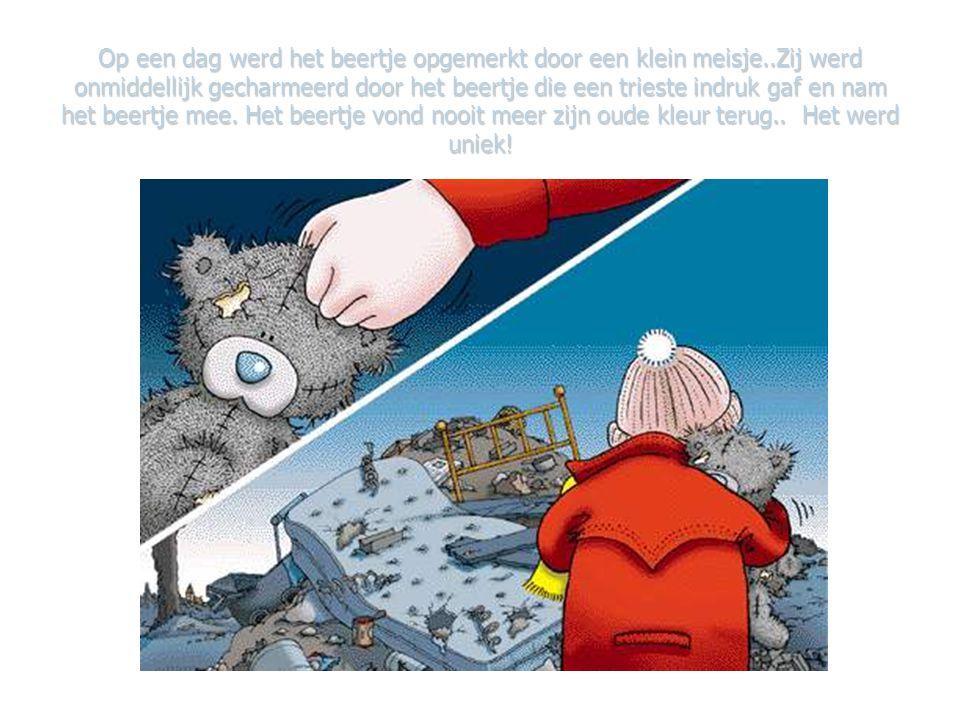 Het kleine beertje had het heel koud, zodanig dat zijn bruine vel, grijs werd, zijn neusje werd blauw, …