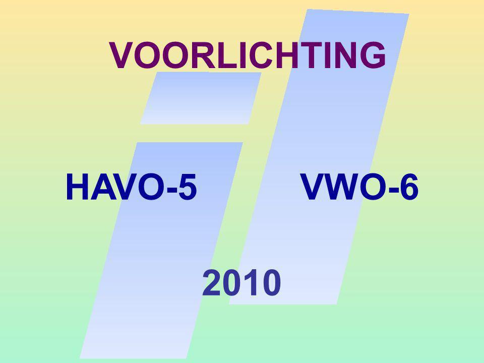 VOORLICHTING HAVO-5 VWO-6 2010