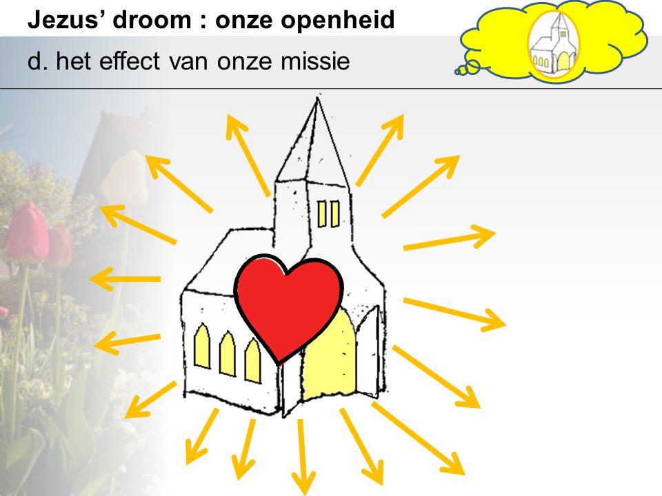 Jezus' droom : onze openheid d. het effect van onze missie