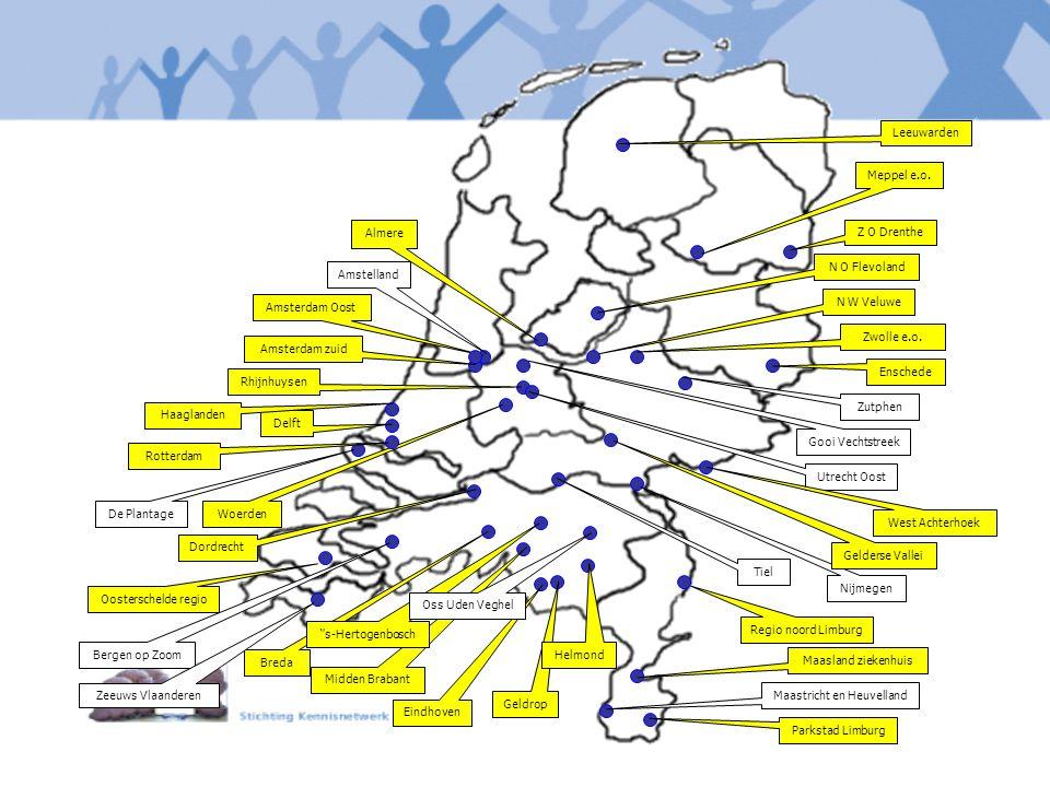 Parkstad Limburg Maastricht en Heuvelland Maasland ziekenhuis Geldrop Eindhoven Midden Brabant Breda De Plantage Oosterschelde regio Dordrecht Nijmege
