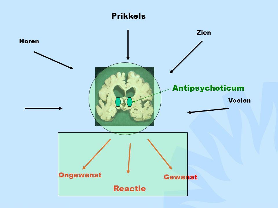 Prikkels Zien Horen Voelen Antipsychoticum Ongewenst Reactie Gewenst