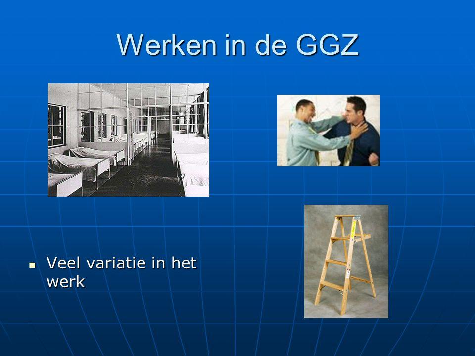 Werken in de GGZ Veel variatie in het werk Veel variatie in het werk