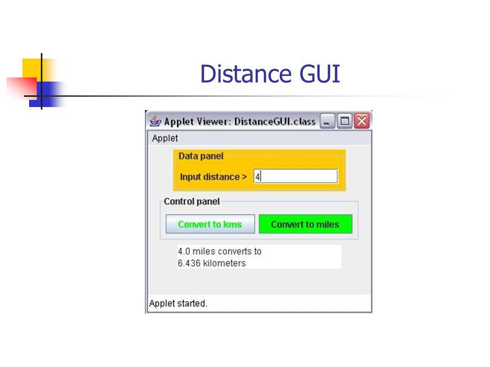 Distance GUI