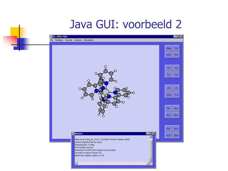 Java GUI: voorbeeld 2