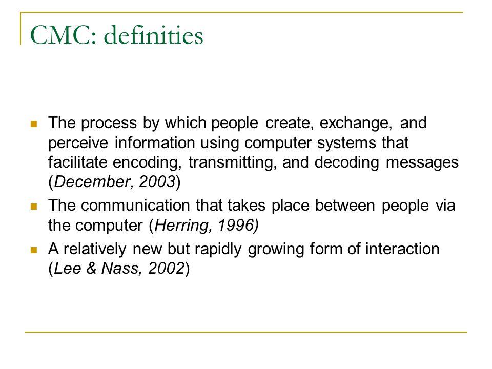 HCI en CMC: verschil HCI: victim – controller interaction CMC: victim – victim interaction