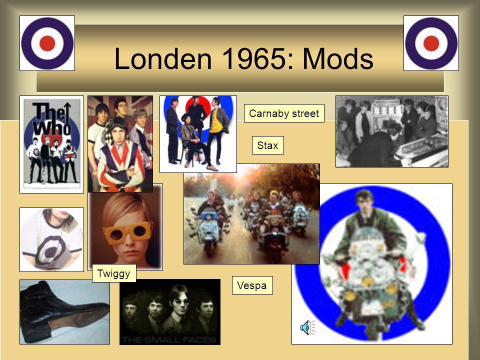 Londen 1965: Mods Carnaby street Twiggy Vespa Stax