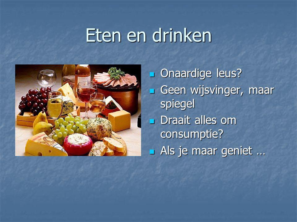 Eten en drinken Onaardige leus. Onaardige leus.
