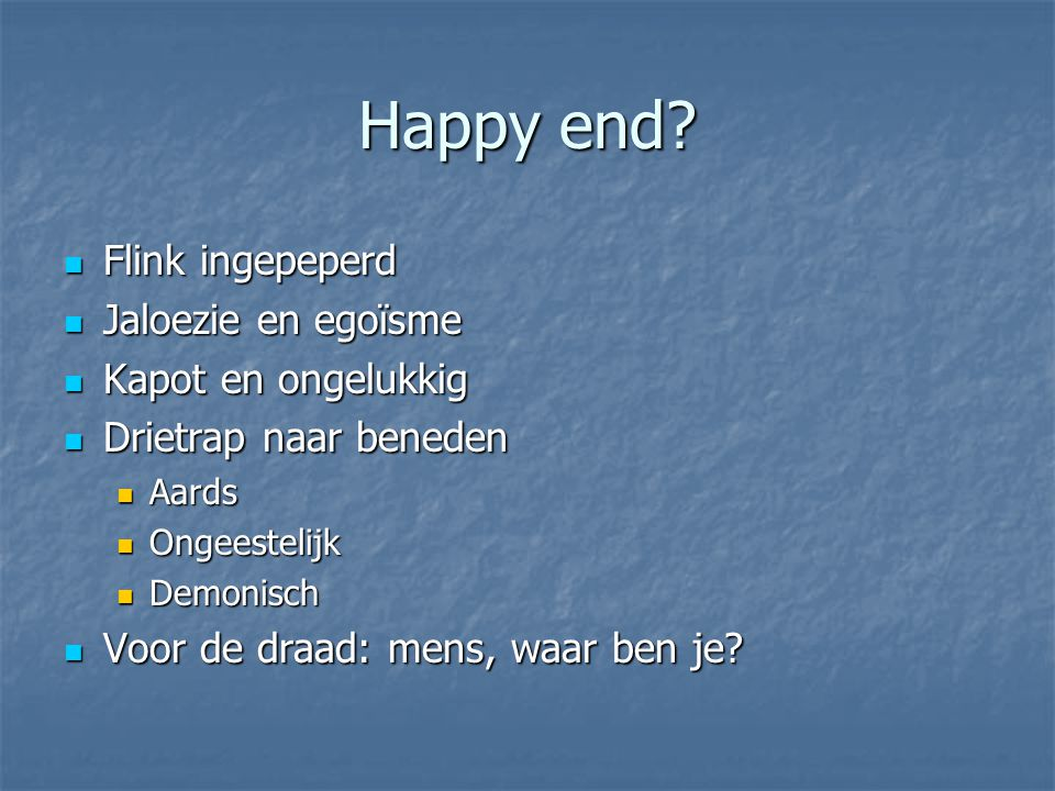 Happy end.