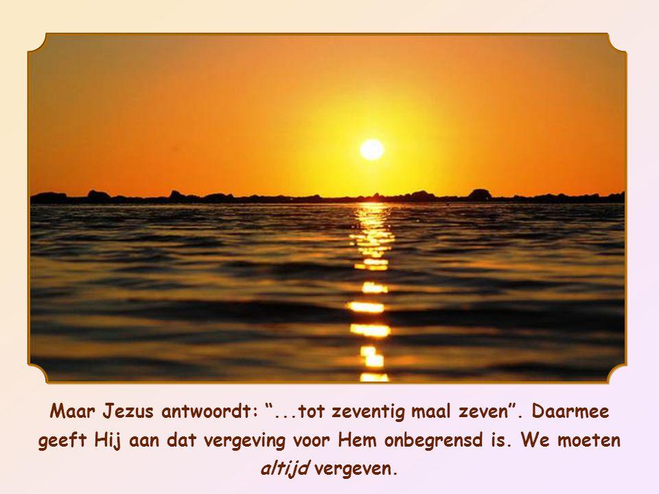 Waarschijnlijk had Petrus onder de invloed van de prediking van Jezus in al zijn goedheid en edelmoedigheid iets heel uitzonderlijks willen doen, namelijk door wel zevenmaal te willen vergeven.