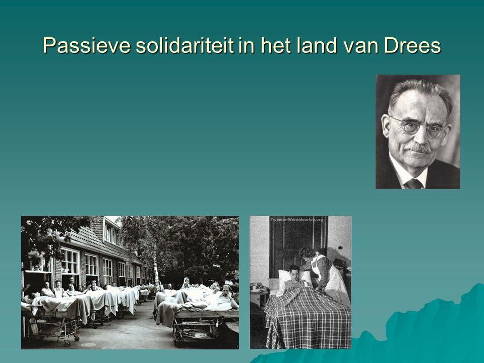 Passieve solidariteit in het land van Drees
