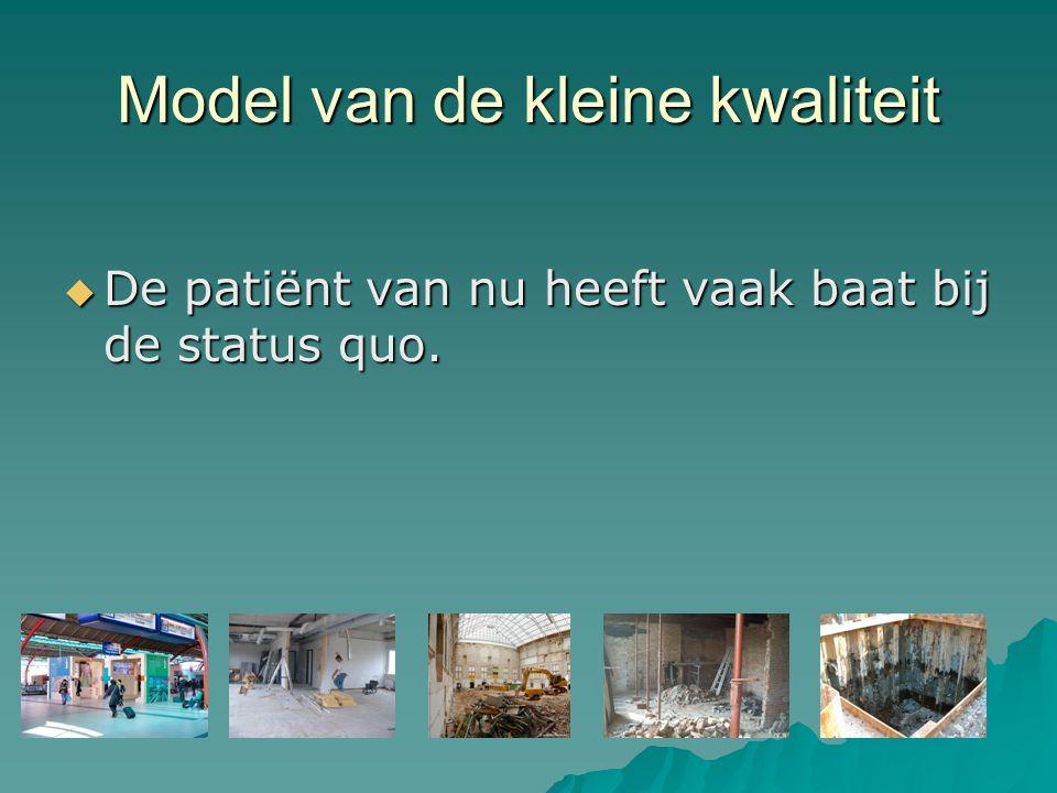 Model van de kleine kwaliteit  De patiënt van nu heeft vaak baat bij de status quo.