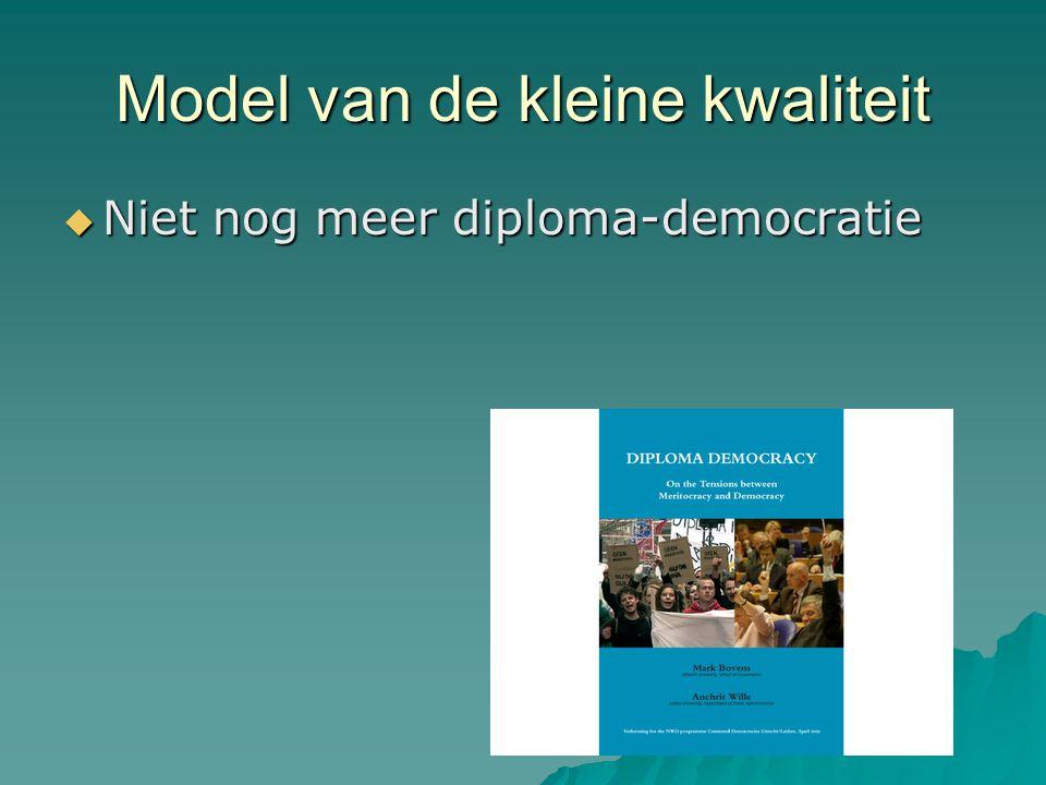 Model van de kleine kwaliteit  Niet nog meer diploma-democratie
