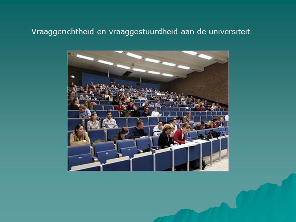 Vraaggerichtheid en vraaggestuurdheid aan de universiteit