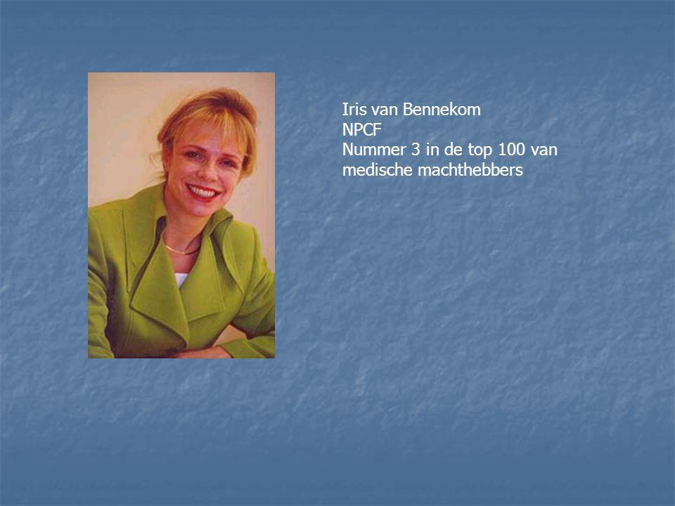 Iris van Bennekom NPCF Nummer 3 in de top 100 van medische machthebbers