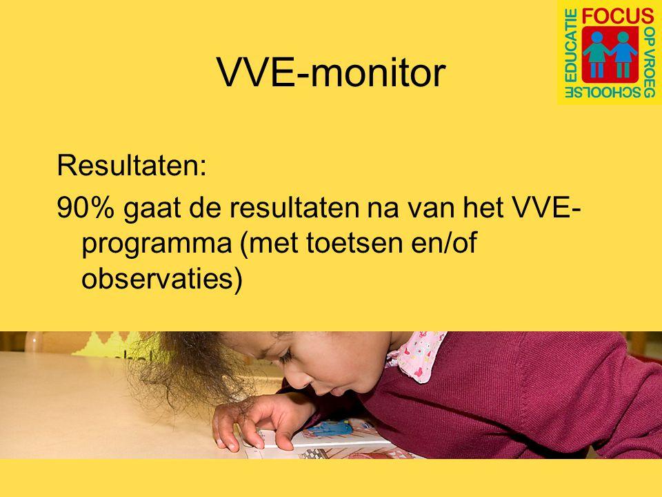 VVE monitor Gevolgen van de knip: Bij een derde vd vve-scholen is de uitvoering veranderd, meestal afgeslankt (minder uren extra inzet/dubbele bezetting)