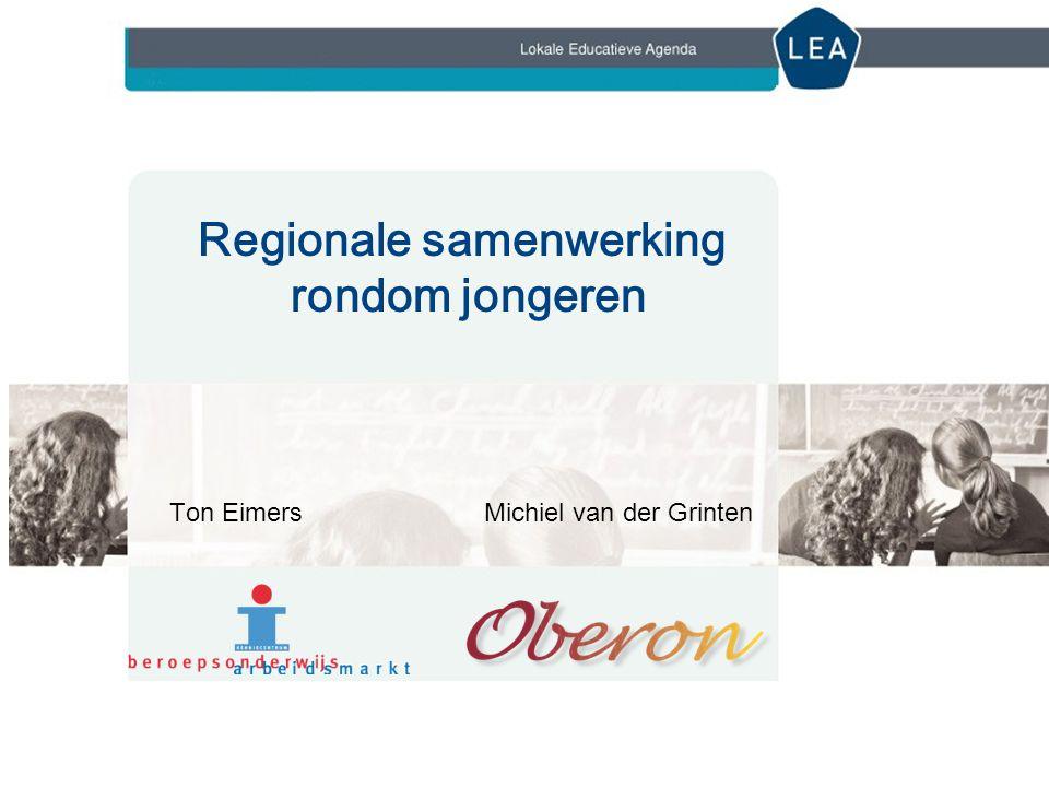 Regionale samenwerking Gemeente, vmbo-scholen, mbo-instellingen en andere partners Waarom is samenwerking zo belangrijk.