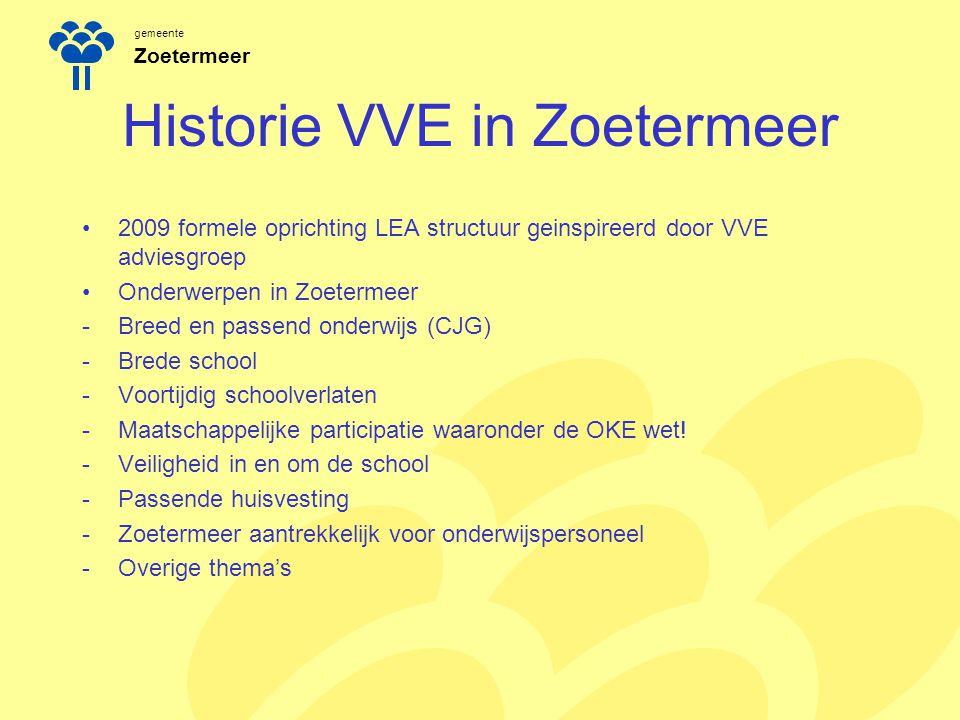 gemeente Zoetermeer Historie VVE in Zoetermeer 2009 formele oprichting LEA structuur geinspireerd door VVE adviesgroep Onderwerpen in Zoetermeer -Bree