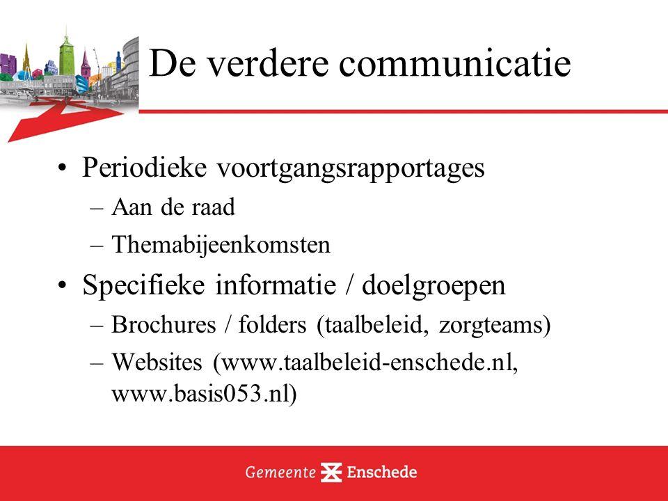 Voorbeeld Taalbeleid: brochure + (ouder)folders