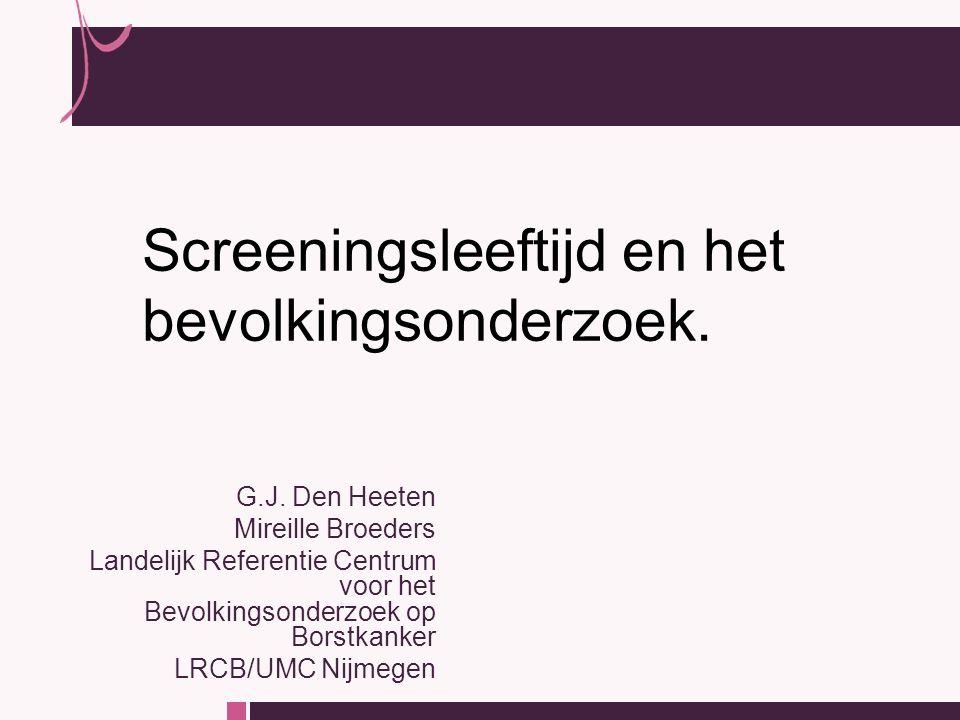 Nu dan ook screening bij vrouwen jonger dan 50 jaar !? 11 juni 2007