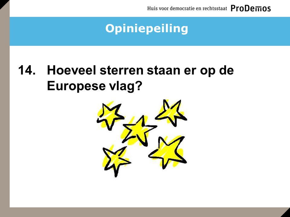 Opiniepeiling 14. Hoeveel sterren staan er op de Europese vlag?