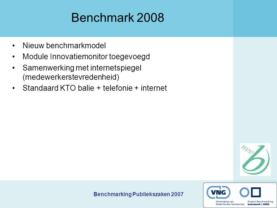 Benchmarking Publiekszaken 2007 Vervolg brieven op maat