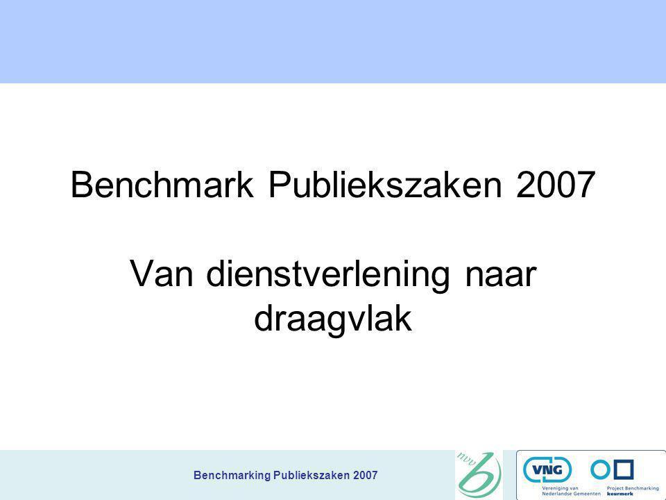 Benchmarking Publiekszaken 2007 Nieuws gemeenten + inbreng best pratice Maximaal 5 minuten per gemeente CUIJK DUIVEN ECHT-SUSTEREN GILZE EN RIJEN GOES