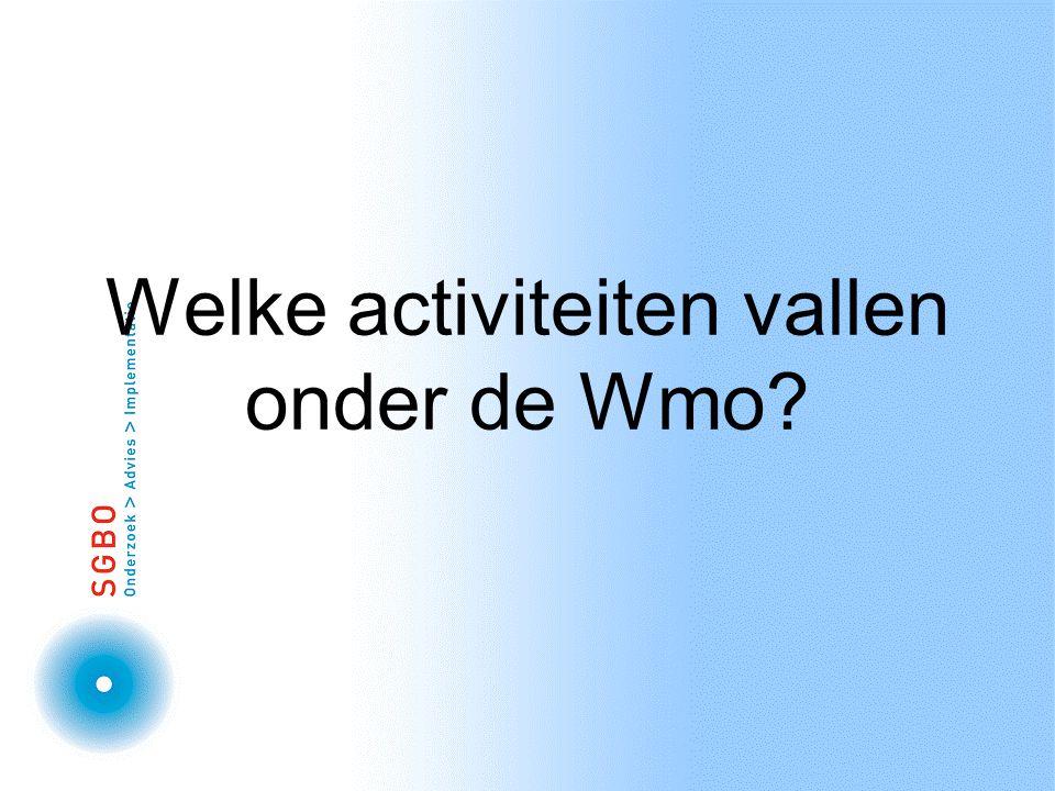 Welke activiteiten vallen onder de Wmo