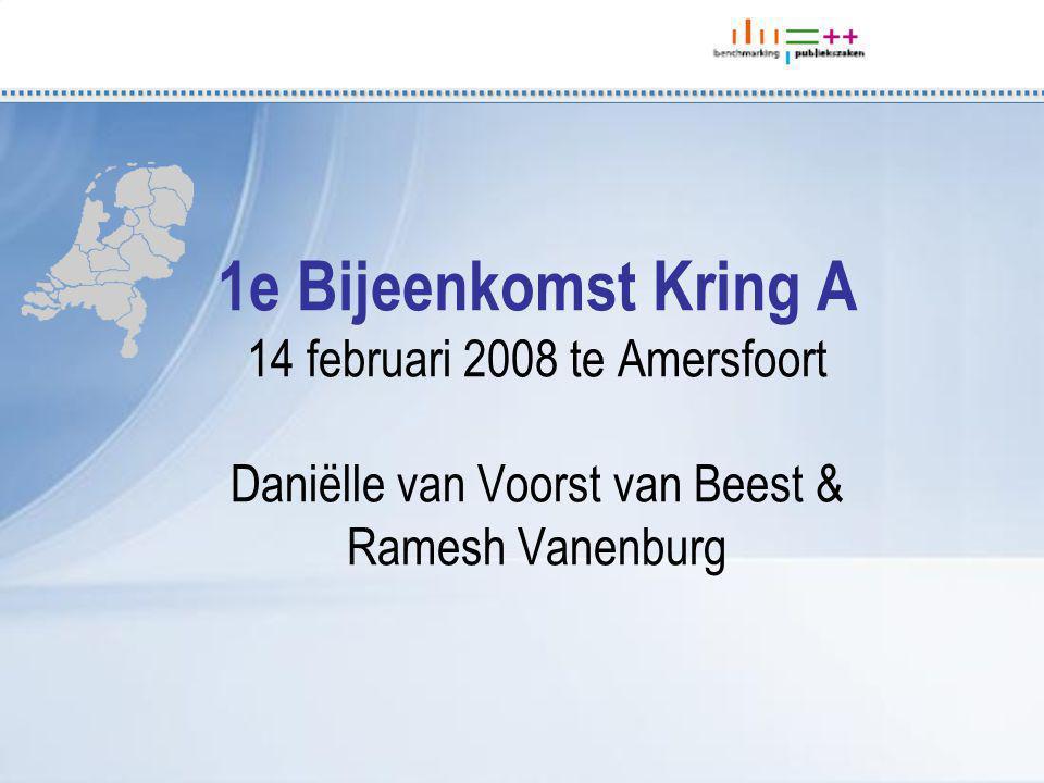 1e Bijeenkomst Kring A 14 februari 2008 te Amersfoort Daniëlle van Voorst van Beest & Ramesh Vanenburg