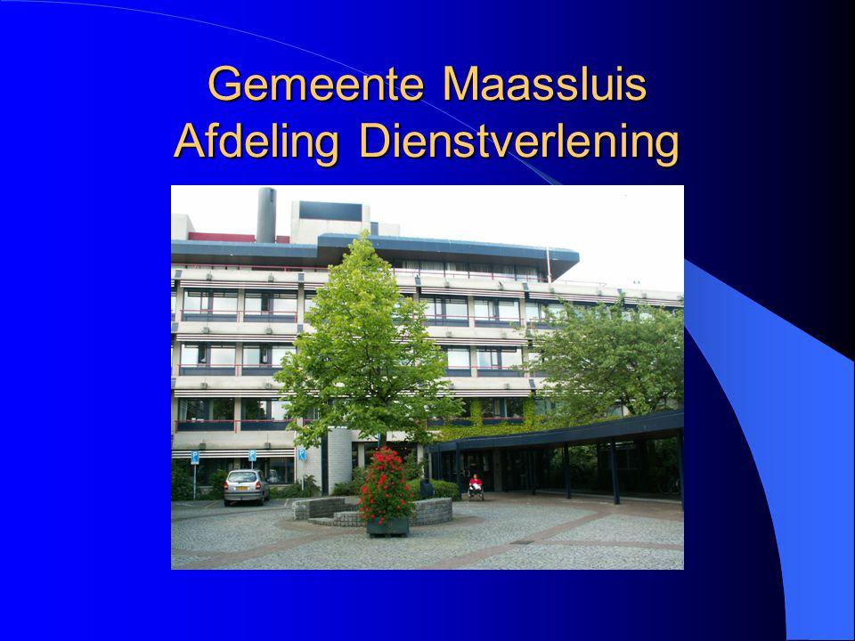 Gemeente Maassluis Afdeling Dienstverlening