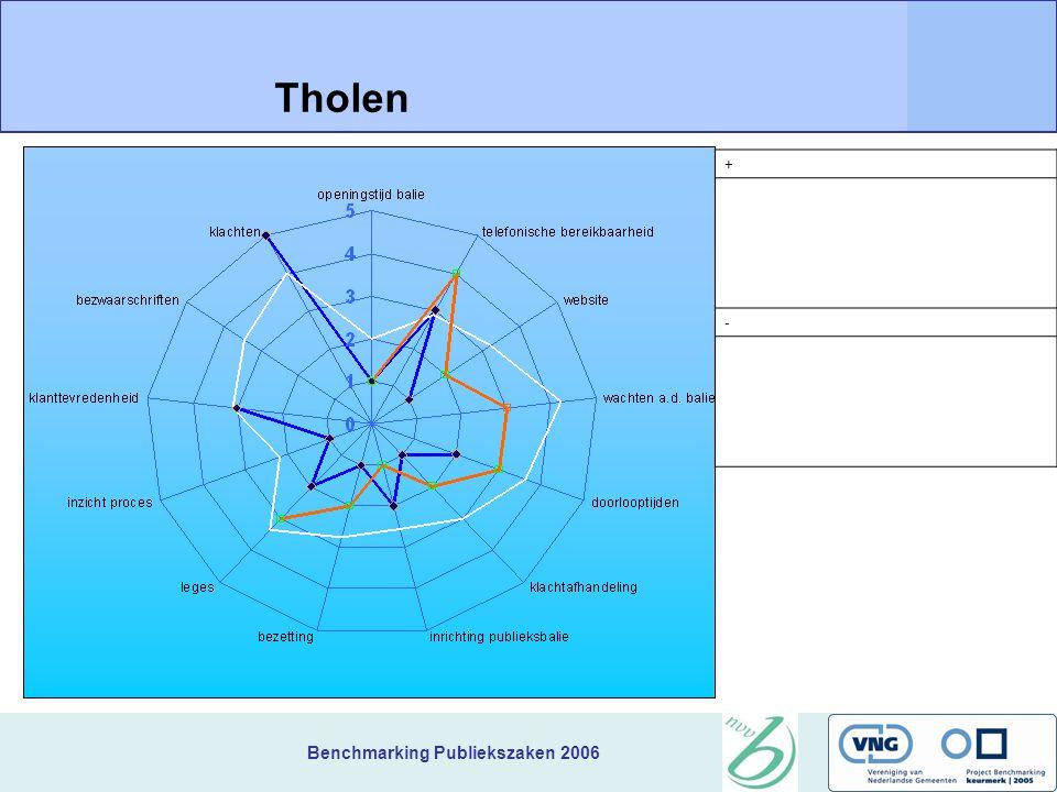 Benchmarking Publiekszaken 2006 + Tholen -