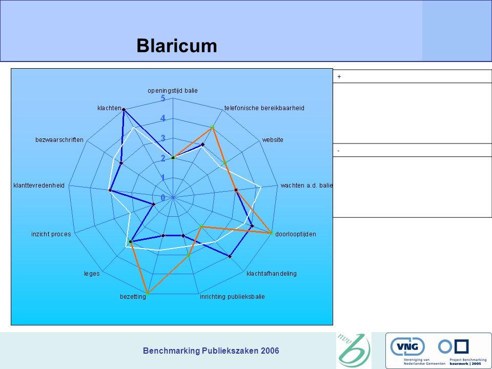 Benchmarking Publiekszaken 2006 + Blaricum -