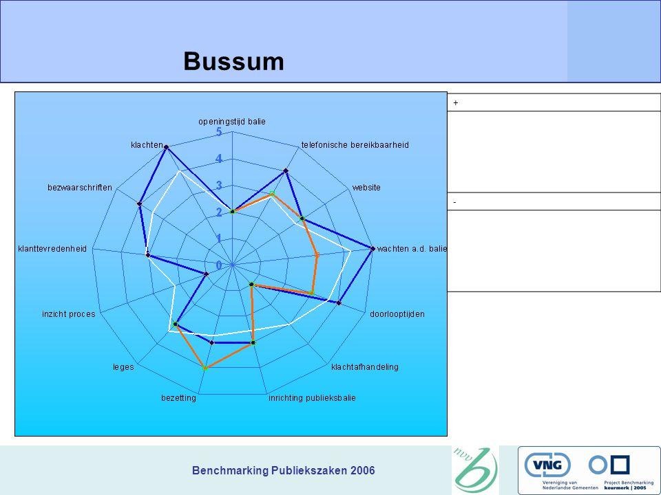 Benchmarking Publiekszaken 2006 + Bussum -