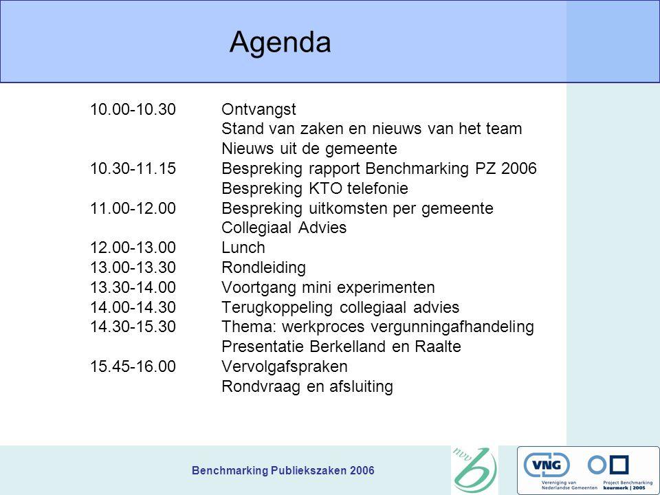 Benchmarking Publiekszaken 2006 Benchmarking Publiekszaken Kring C Bijeenkomst 3 7 september 2006 Teylingen Benno Wiendels en Martijn Nijhuis