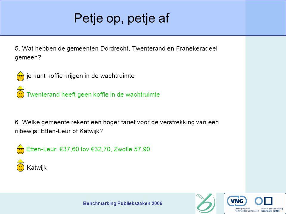 Benchmarking Publiekszaken 2006 Petje op, petje af 3.