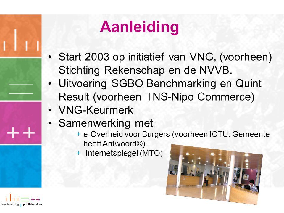 Start 2003 op initiatief van VNG, (voorheen) Stichting Rekenschap en de NVVB.