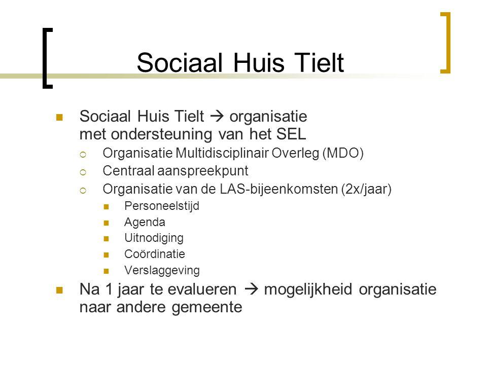 Sociaal Huis Tielt Sociaal Huis Tielt  organisatie met ondersteuning van het SEL  Organisatie Multidisciplinair Overleg (MDO)  Centraal aanspreekpu