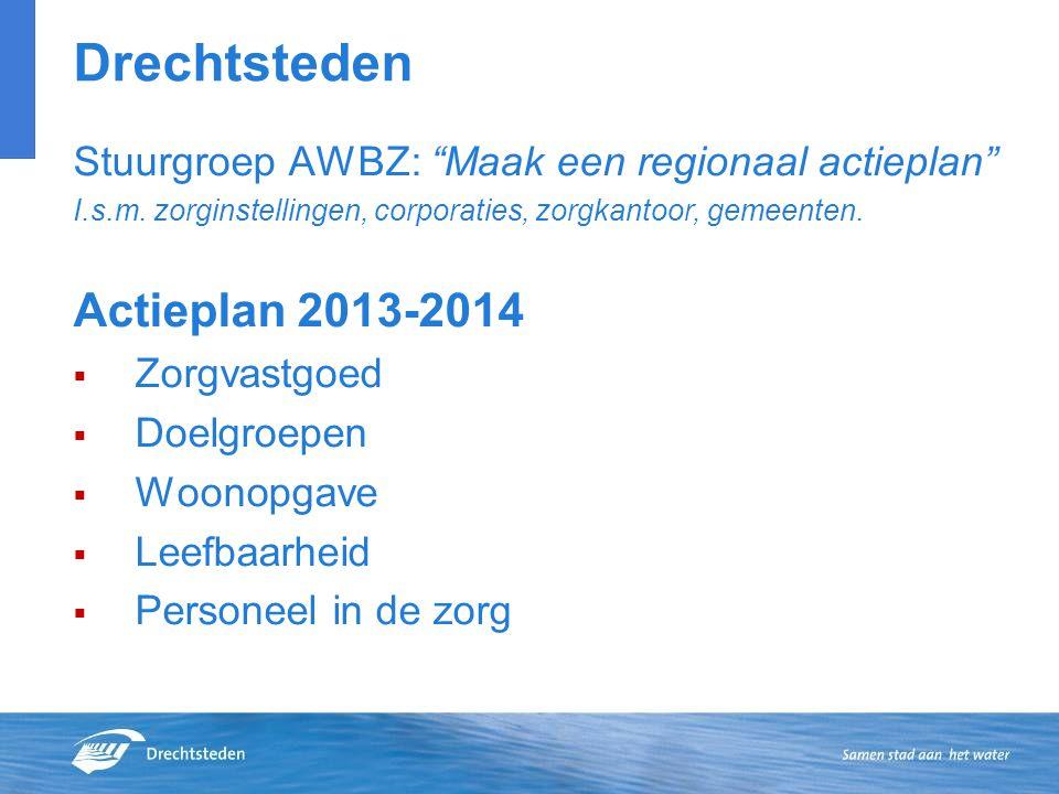 Drechtsteden Stuurgroep AWBZ: Maak een regionaal actieplan I.s.m.