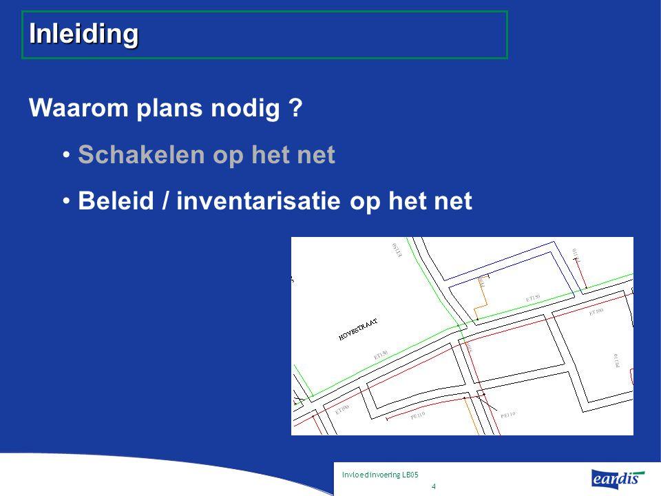 Invloed invoering LB05 4 Inleiding Waarom plans nodig .